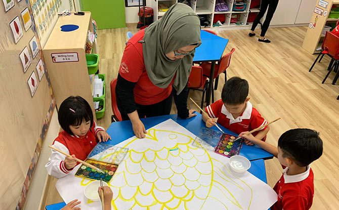 MindChamps Changi Business Park offers classes from Playgroup to Kindergarten 2.