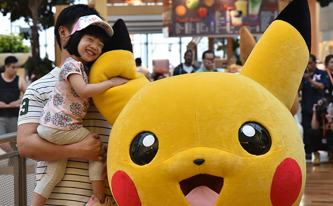 Special Pikachu Appearances Around The Malls