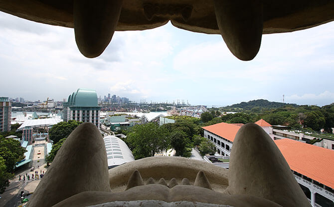 Sentosa Merlion - the Mouth Viewing Deck Gallery