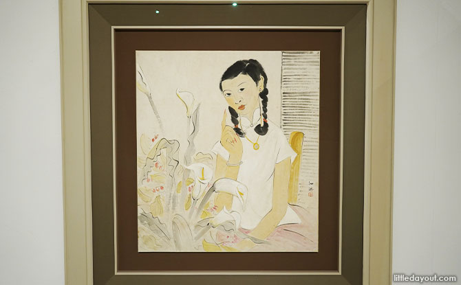 A painting of Christina Loke