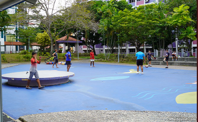play area at Pasir Ris Atlantis Park and Playground