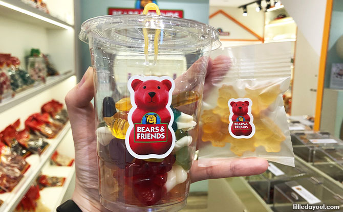 Types of gummies at Bear and Friends