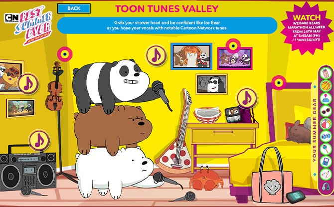 Music in Toon Tunes Valley with We Bare Bears