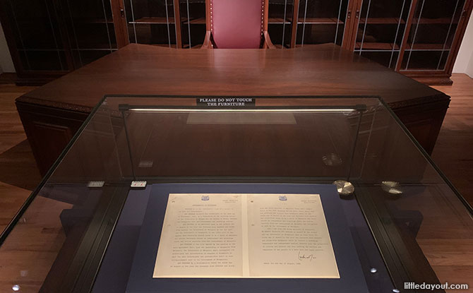 Singapore Proclamation of Independence Document