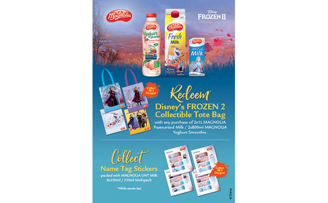 F&N Magnolia's with FREE Disney's Frozen 2 Tote bags