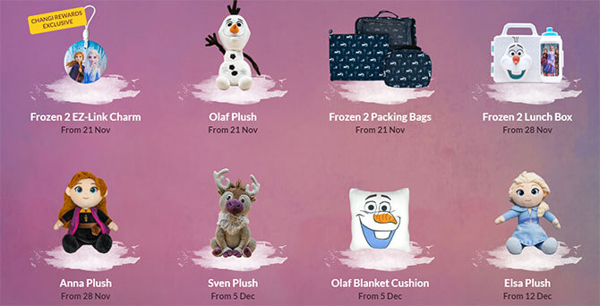 Limited Edition Disney's Frozen 2 Premiums and Merchandise at A Frozen Wonderland at Changi