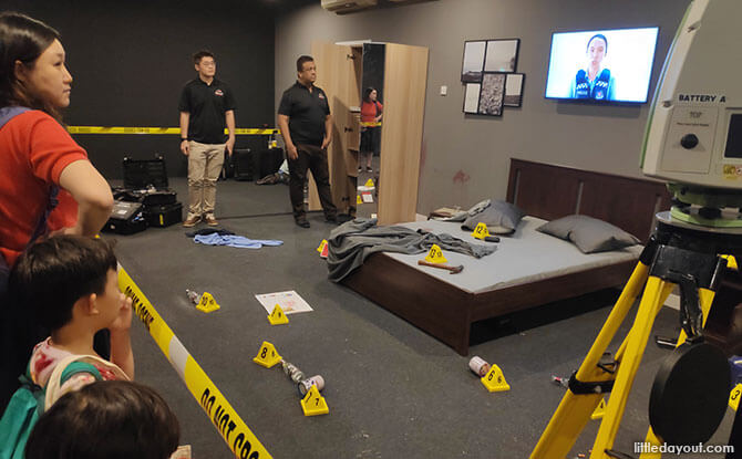 Viewing a Crime Scene at the Home Team Festival 2019