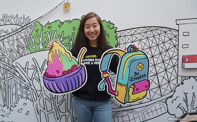 Photo backdrop - InstaKindness with Singa Exhibition