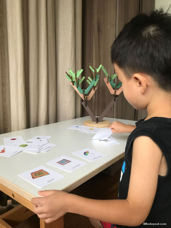 Learning Beautiful Singapore playing with Alphabet Cards