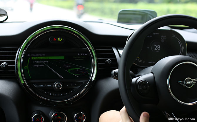 Interior of the MINI Electric