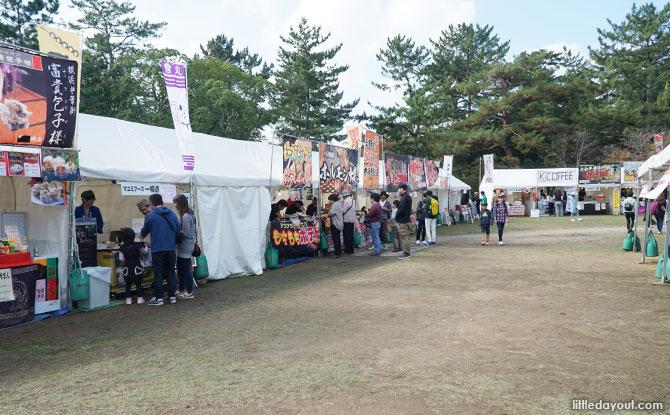 Food fair at Nara Park.