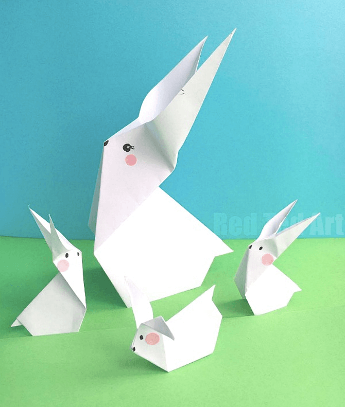 Easter bunnies, Red Ted Art
