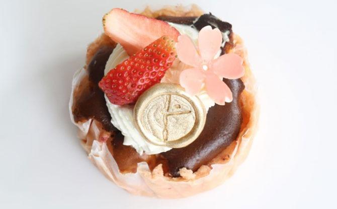 Strawberry Basque Cheesecake