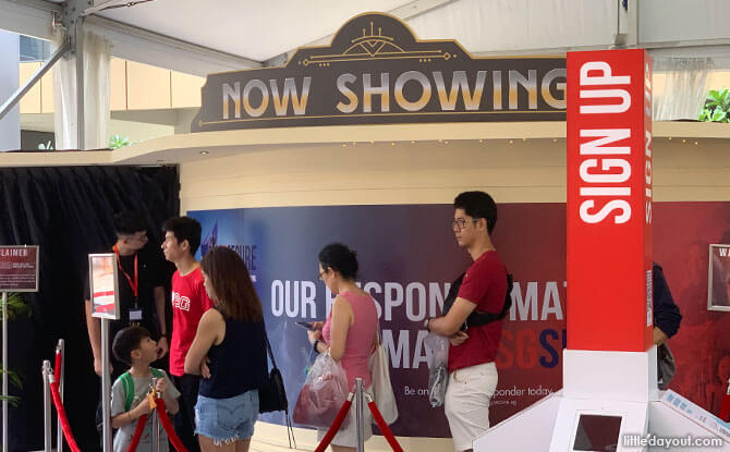 Movie Experience at SGSecure Roadshow
