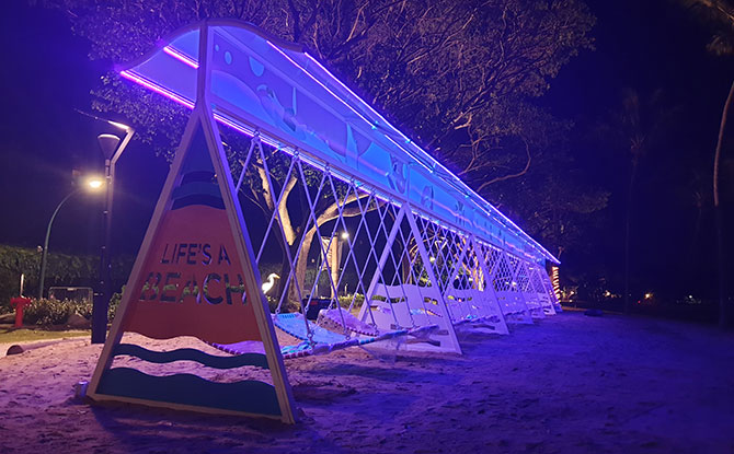 Slide at Palawan Beach in the evening