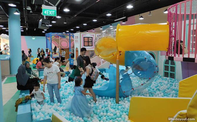Two Ball Pits and One Sponge Pit for extra soft landings