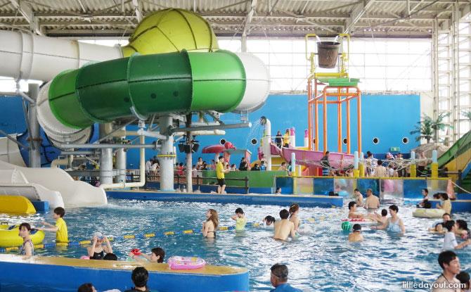 Water park / family pool at Spa World Osaka