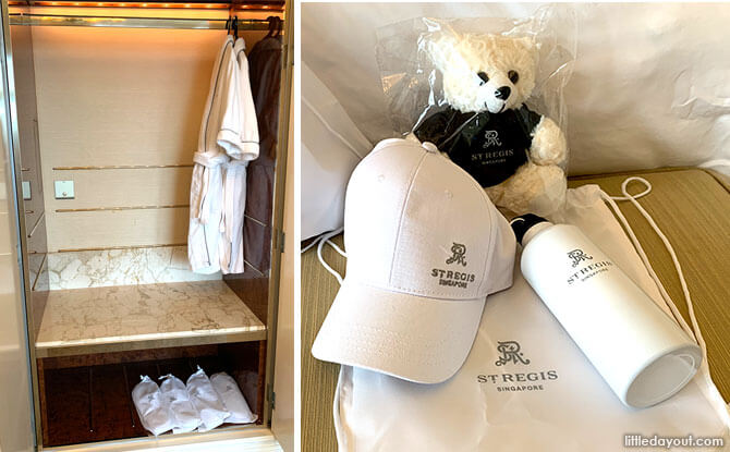 St. Regis Singapore Staycation Kid-size Robes, Slippers and Gifts