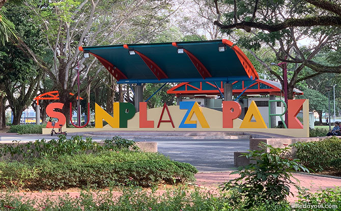 Sun Plaza Park: Sense Discovery Garden And Woodball Course In Tampines