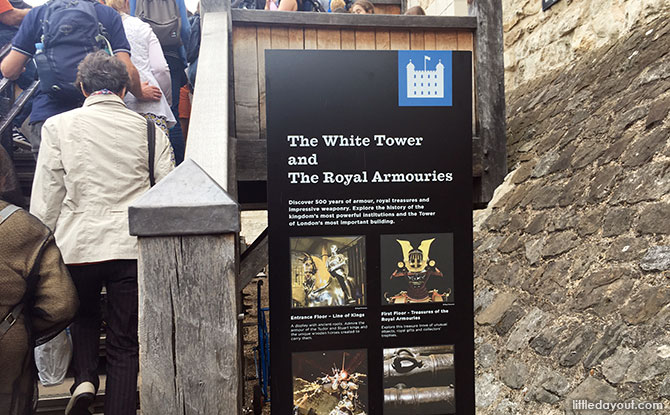 Climb the stairs to the White Tower