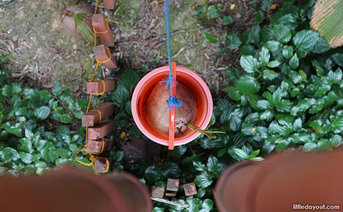 Bucket below