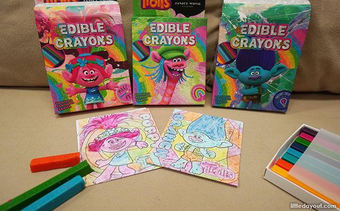 Janice Wong Trolls Edible Crayons