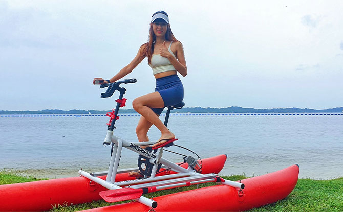 Gifting a waterbiking experience