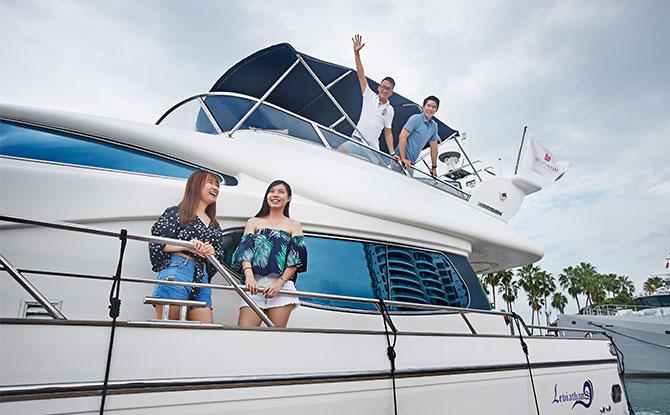 yacht staycay