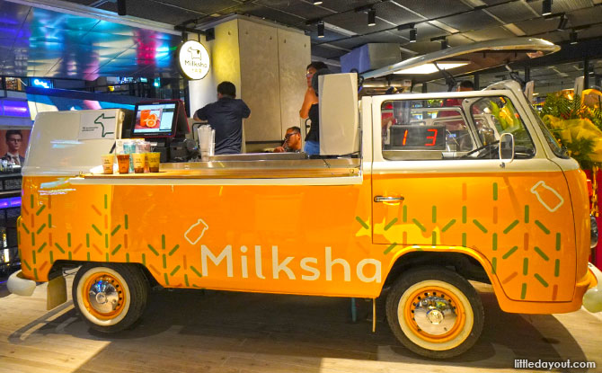 Milksha, Food at Funan