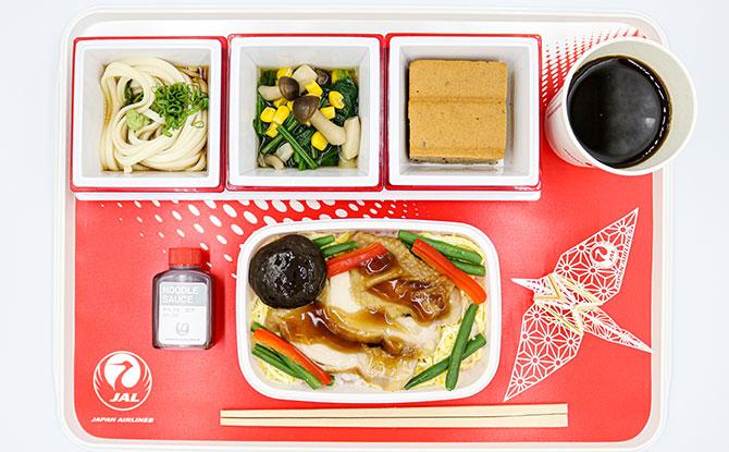 Japan Airlines Meals at Japan Rail Café