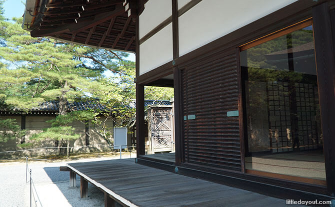 Waiting rooms at the Kyoto Imperial Palace