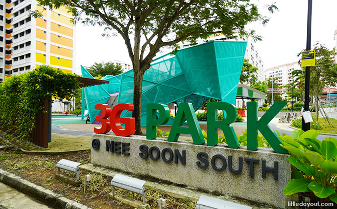 Origami Playground at Nee Soon 3G Park Entrace