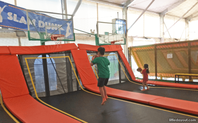 Slam Dunk at Zoom Trampoline Park