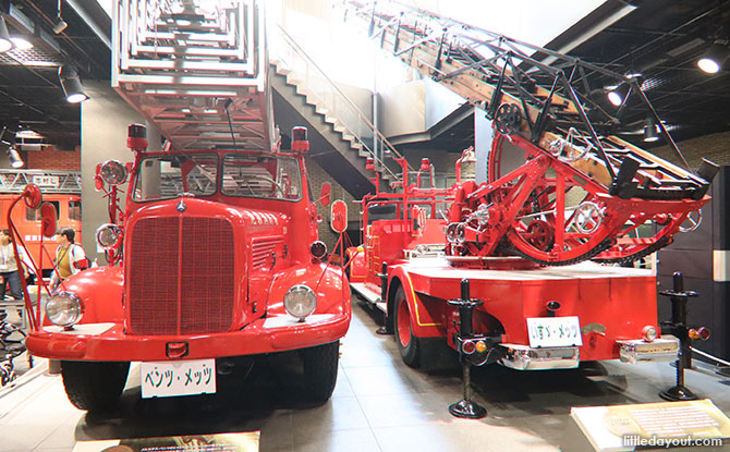Fire trucks at the Tokyo Fire Museum, Shinjuku