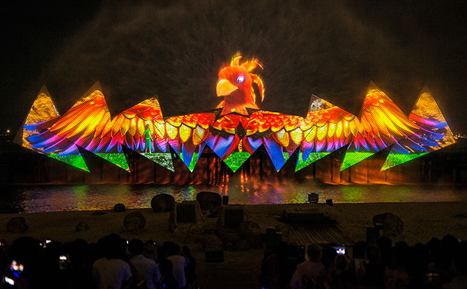 Wings of Time Show, Siloso Beach, Sentosa