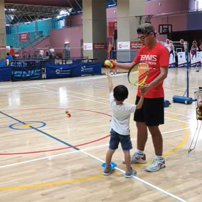 Mini tennis ActiveSG