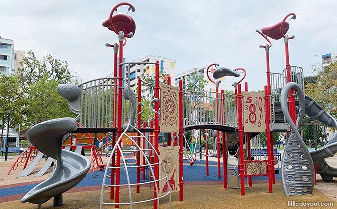 Climbing Platform at Beauty Park Garden