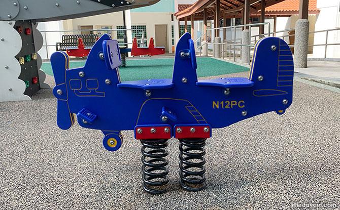 Blue Airplane Teeter-totter
