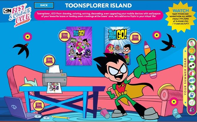 Explore Toonsplorer Island with Teen Titans Go!
