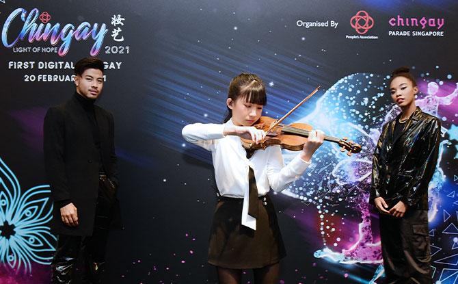 Segment 4 - (L to R) Benjamin Kheng, Chloe Chua, Keyana