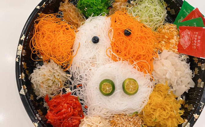 One Sushi Cute Year of the Ox Yu Sheng