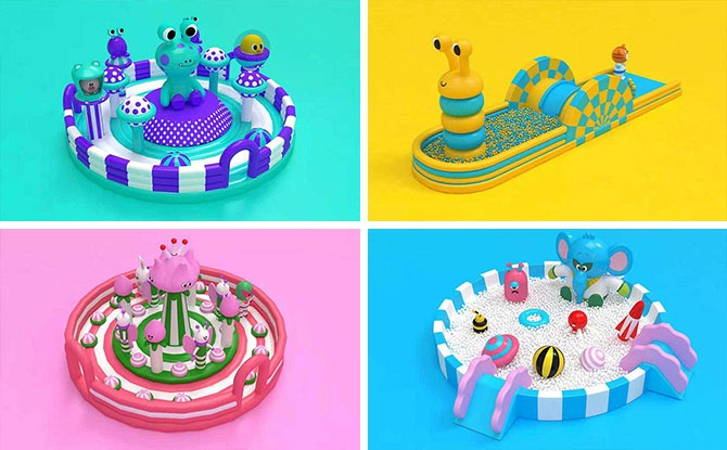 Jumptopia: Bouncing Fun In 7 Giant Inflatable Castles At Downtown East