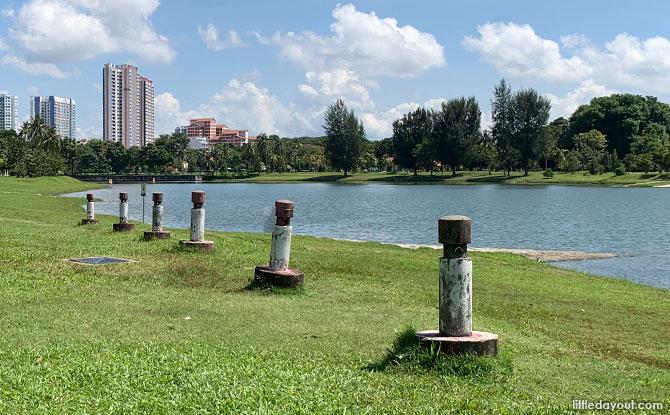 Bollards at Kallang Riverside Park