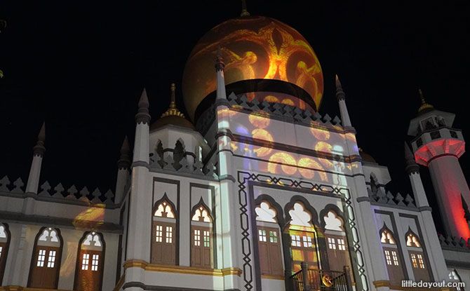 Sultan Mosque Light Up