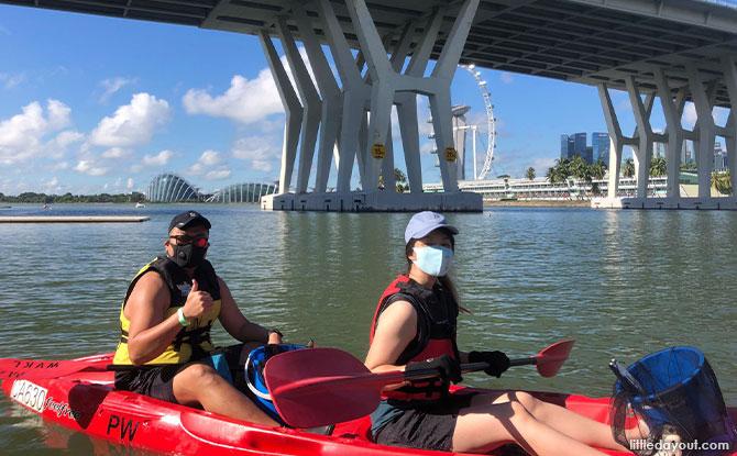 kayak around the reservoir