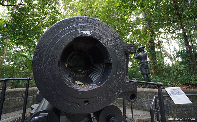 Barrel of the 6-inch gun