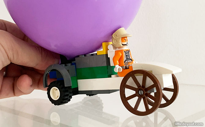 Balloon-Powered LEGO Go-Kart Challenges