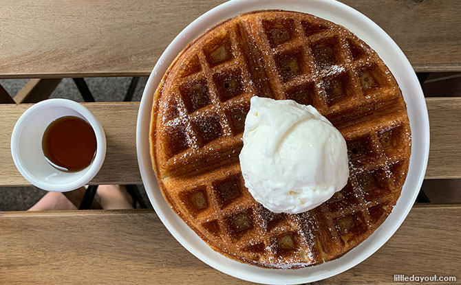 Buttermilk Waffles Olla Specialty Coffee