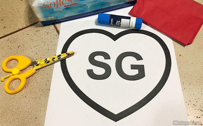What you need to make SG Paper Heart Art