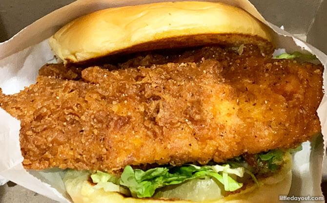 Chick'n Shack burger